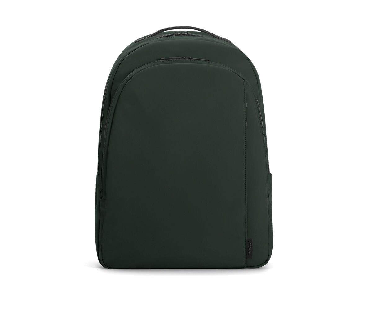 The Backpack in Green Nylon