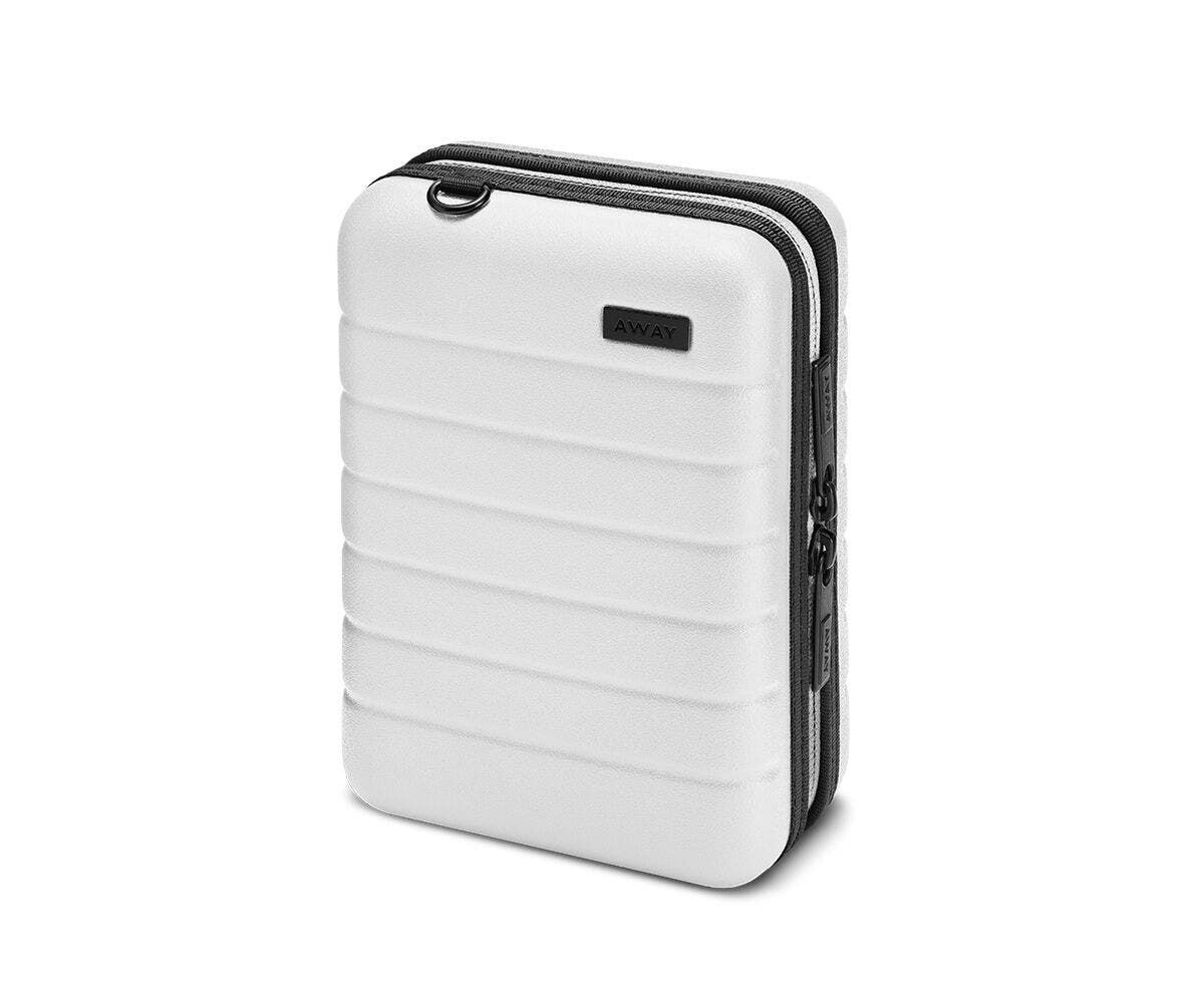 Hardsided mini suitcase displayed from the front in White.