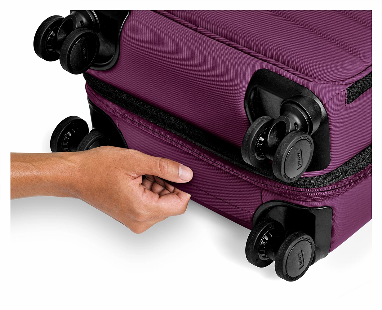 The Expandable Carry-On in Plum.