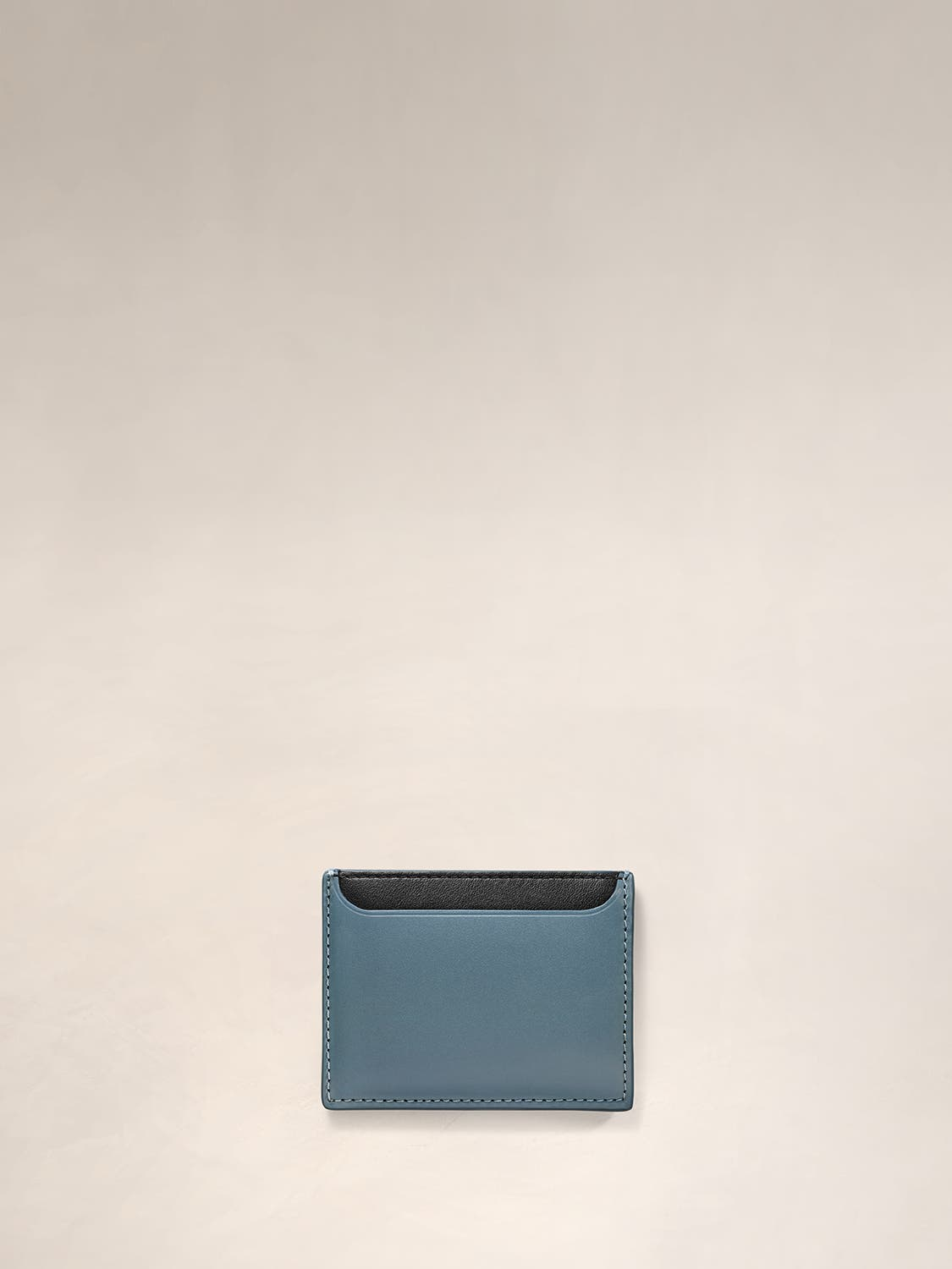 Front view of a slim card holder.