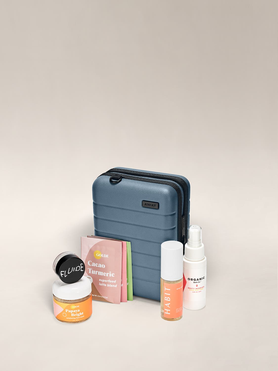 The Boost Set Mini shown with various products