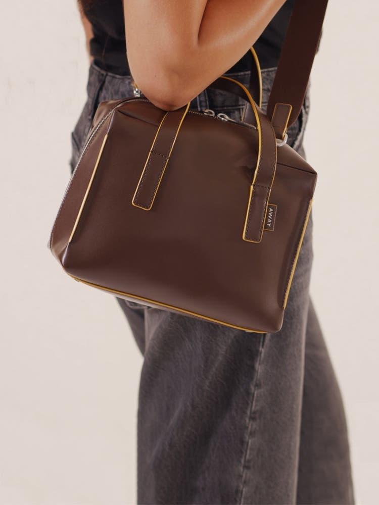 The Mini Everywhere Bag in Chestnut
