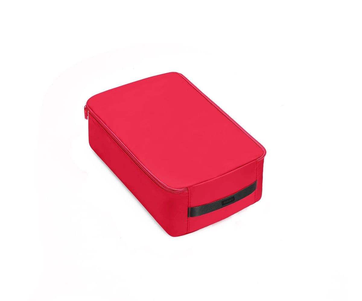 A large electric magenta shoe cube