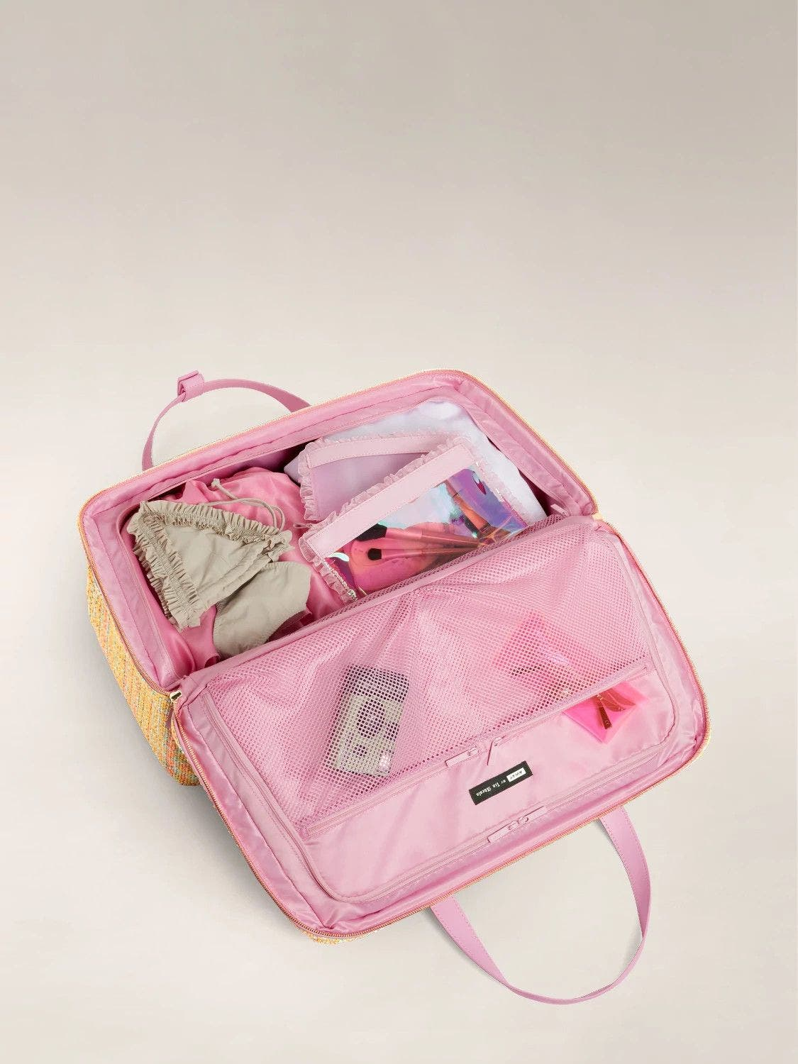 Open view of the Large Everywhere Bag by Tia Adeola