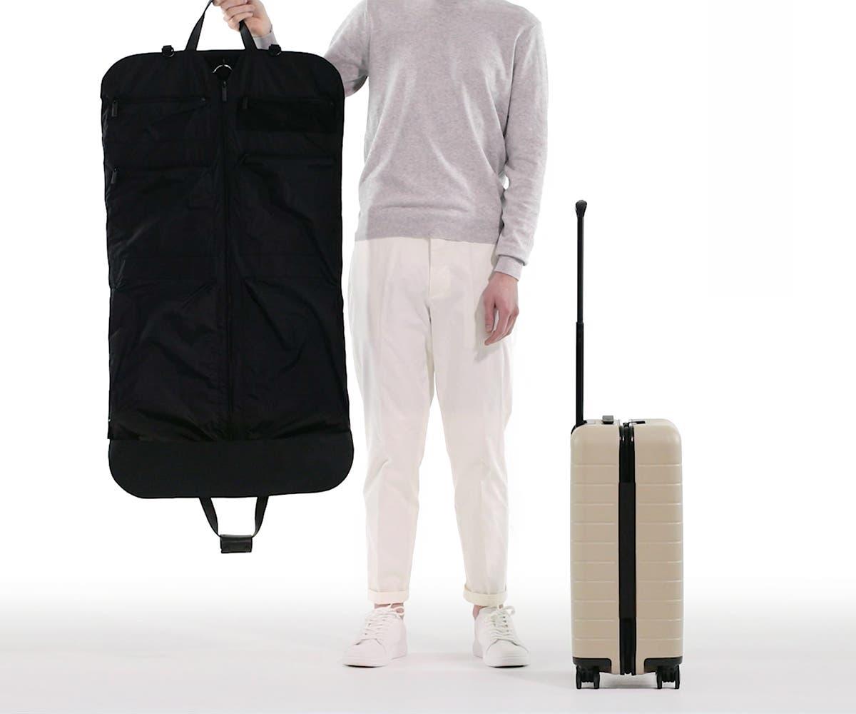 The Signature Garment Bag in Black Nylon